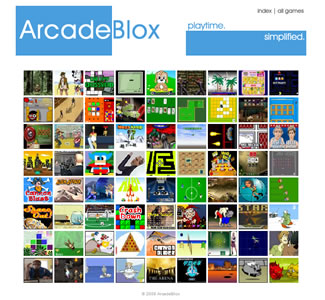 ArcadeBlocks v1 Homepage (The old version of 3arcade)